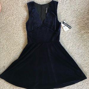 NWT Design Lab - Navy Velvet Dress